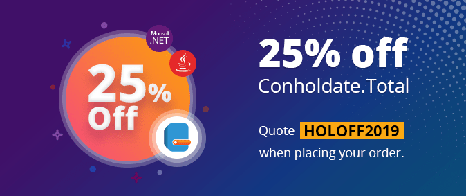 25% off Conholdate.Total