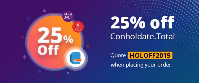 25% off Conholdate.Total